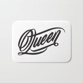 Queen Typo Bath Mat