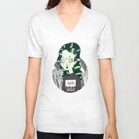 loll3 V-neck T-shirts featuring ☽ ZELINA ☾ by lOll3