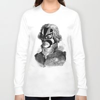 wrestling Long Sleeve T-shirts featuring WRESTLING MASK 11 by DIVIDUS DESIGN STUDIO