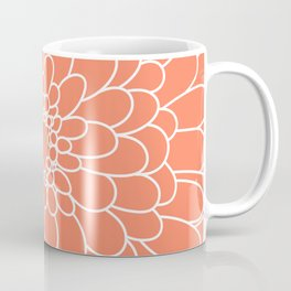 Coral Chrysanth Coffee Mug