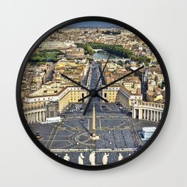 St Peter's Square in Rome, Italy Wall Clock