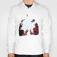 lungs Hoodies featuring Lungs by Keka Delso