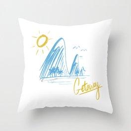 Getaway Throw Pillow