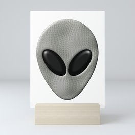 Alien Face With White Scales Mini Art Print