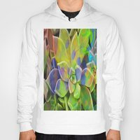 succulent Hoodies featuring succulent fantasy by  Agostino Lo Coco