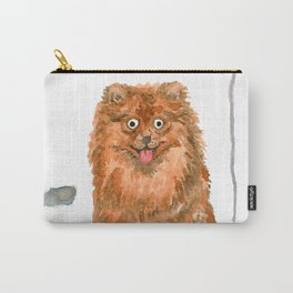 Pomeranian with balloons Carry-All Pouch