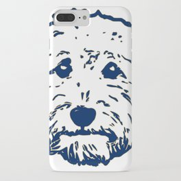Goldendoodle dog face silhouette - perfect Golden doodle gift idea iPhone Case