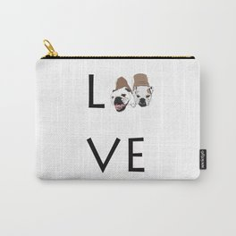 Love. English Bulldogs Carry-All Pouch