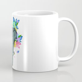 Cute elephant with flowers Coffee Mug