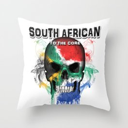 To The Core Collection: South Africa Throw Pillow
