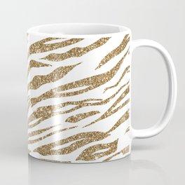 White & Glitter Animal Print Pattern Coffee Mug