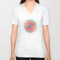 positive V-neck T-shirts featuring Positive geometry by ViviGonzalezArt