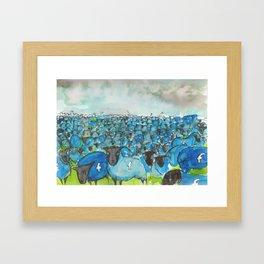 facesheep Framed Art Print