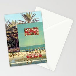 Pillow on the beach Stationery Cards