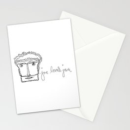 joe loves java Stationery Cards