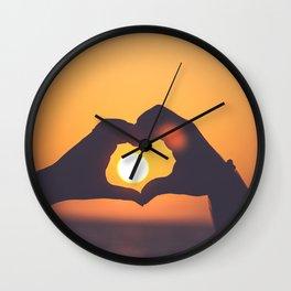 sun heart Wall Clock