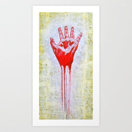 """""""The Red Hand"""" Art Print"""