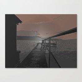 Lake Jetty Canvas Print