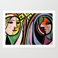 picasso Art Prints featuring Picasso by Kathleen Carroll