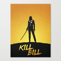 kill bill Canvas Prints featuring Kill Bill by Nick Kemp