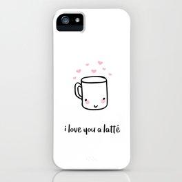I Love You A Latte iPhone Case