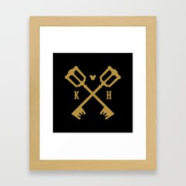 Crossed Keys Framed Art Print