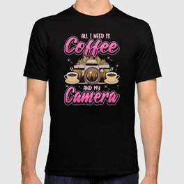 Camera Photography Photo Pictures Coffee Gift T-shirt