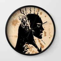 lotr Wall Clocks featuring Elven king by Panda Cool