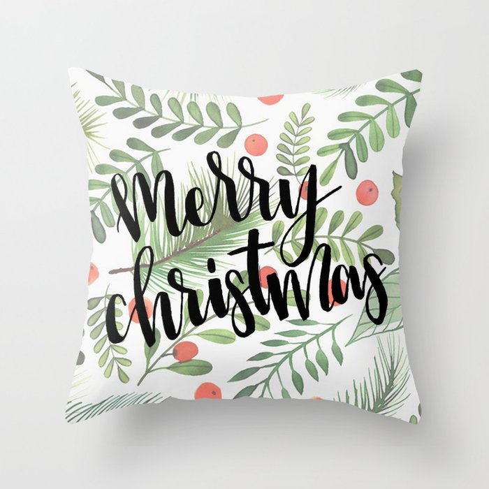 merry christmas pillow throw pillow