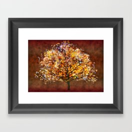 Starry Tree Framed Art Print