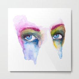 Rainbow Eyes Metal Print