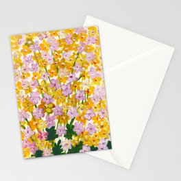 Yellow Flowers Bloom Stationery Cards