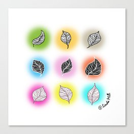 Happy leaves Canvas Print