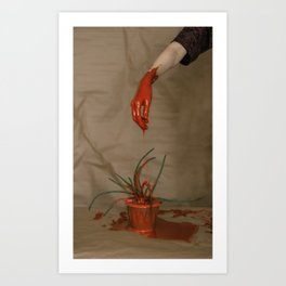 Rootless. Red hand Art Print