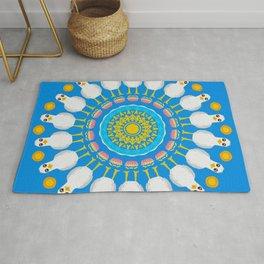 Brighton Seagull Mandala Design Rug