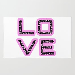 [Glittered Outline Effect Variant] Love's Simply Stylish Rug