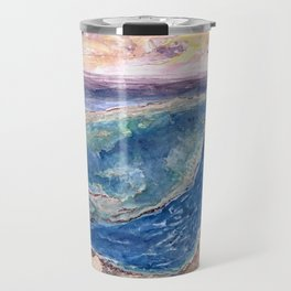 Great Barrier Reef at sunset - aerial view - coral reef - wall art Travel Mug
