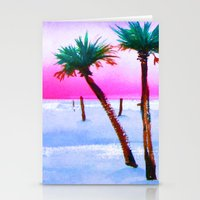 volleyball Stationery Cards featuring Beach Volleyball Sunset by sky愛