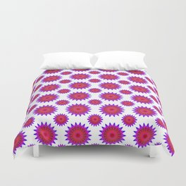 Pink,red and fuchsia color mandala Duvet Cover