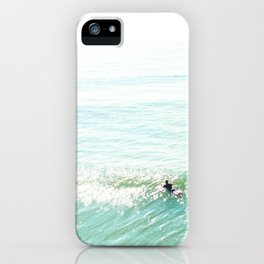 Lone Surfer in the Californian Sun iPhone Case