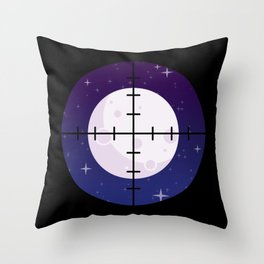 Aim for the Moon Throw Pillow