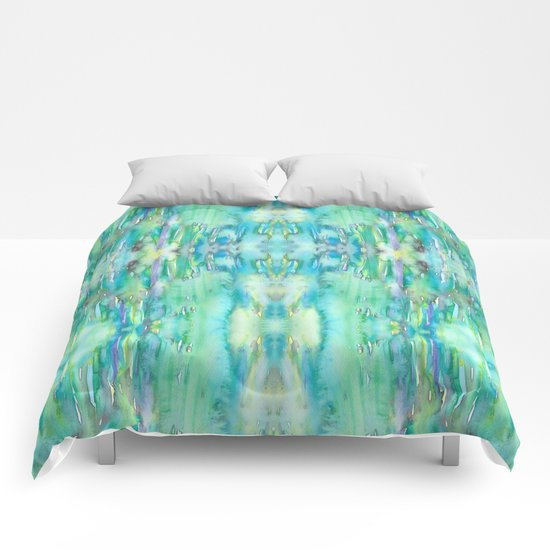 Water and Light Reflections Comforters