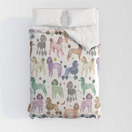 Poodles by Veronique de Jong Comforters