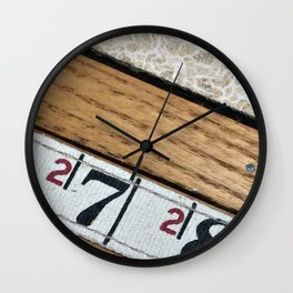 chippy ruler Wall Clock