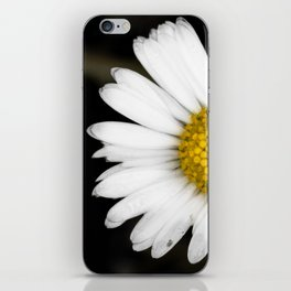 White daisy floating in the dark #2 iPhone Skin