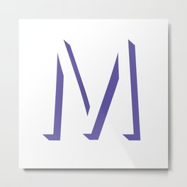 m is for melonie Metal Print