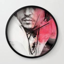 Johnny Depp Artwork Wall Clock