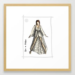 Zoe in Odylyne Framed Art Print