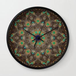 Bohemian Meditation Peacock Mandala Art Namaste A253 Wall Clock