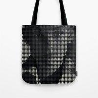 hepburn Tote Bags featuring Hepburn by Robotic Ewe
